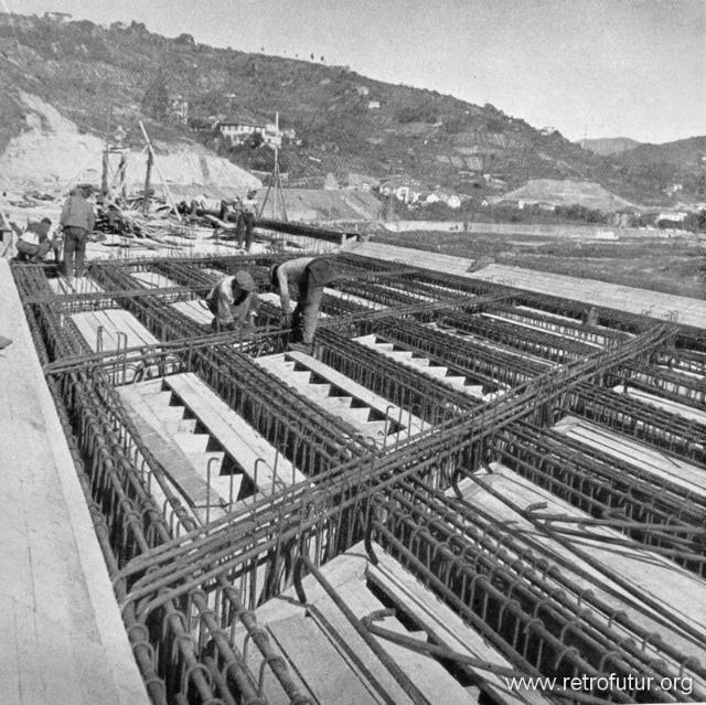 1932 - 1935: Building of mountain Highway Genova - Serravalle  (today A7) : Ponte sul Secca